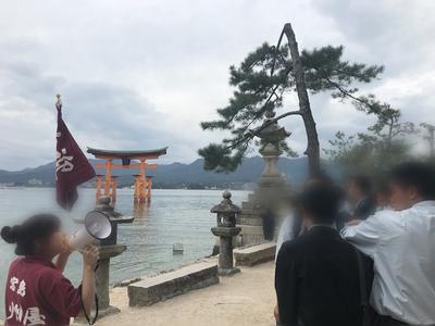 厳島神社にて